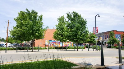 Bright, colorful mural in Uptown Normal