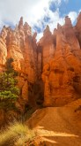Hoodoos from inside the canyon