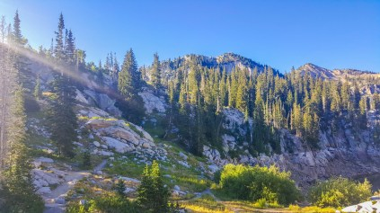 Big Cottonwood Canyon at sunrise
