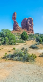 Another famous stop in Arches National Park: Balanced Rock