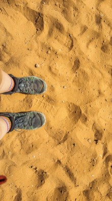 Sand and Hiking Boots