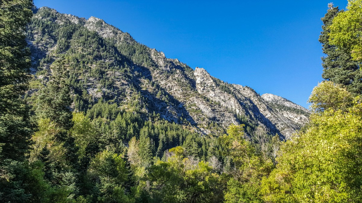 Mountainsides from Little Cottonwood Canyon