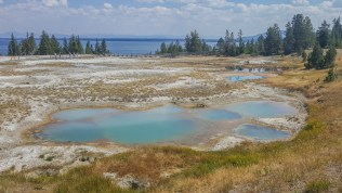 West Thumb Geyser Basin and Yellowstone Lake