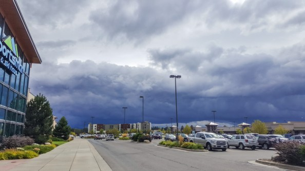 Unbelievable clouds while shopping for ALL THE OUTDOOR EQUIPMENT