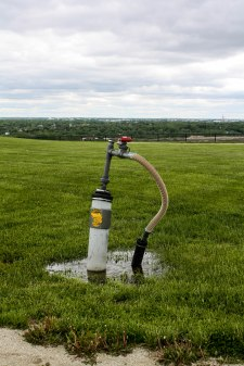 Methane capture from the landfill to be used by surrounding homes