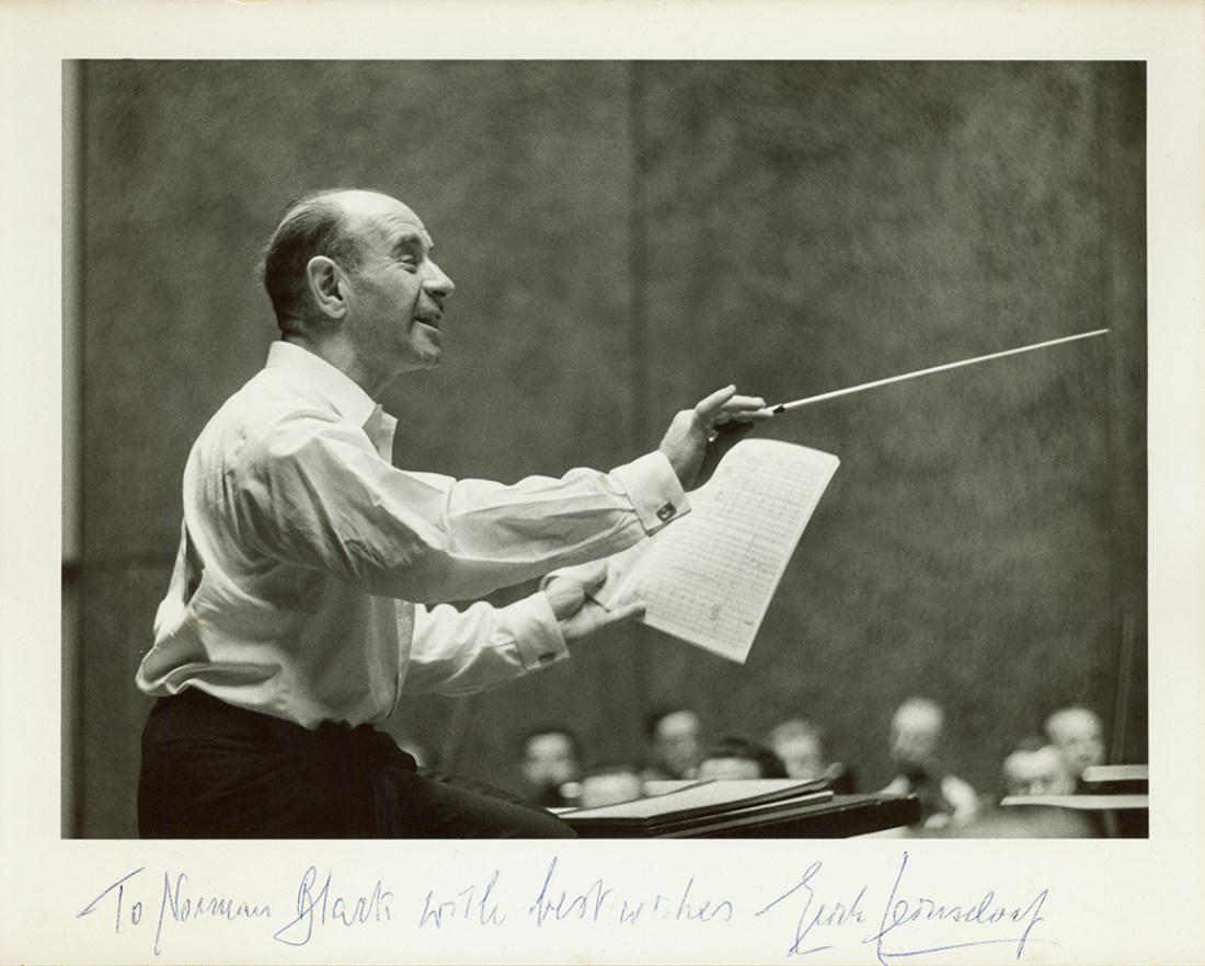 Erich Leinsdorf with note to Norman Black
