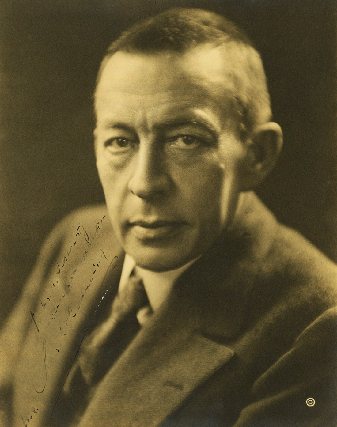 Sergei Rachmaninoff with note to Norman Black