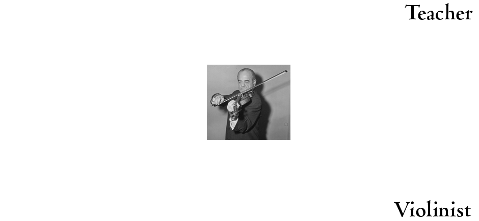 Norman as Teacher, Violinist