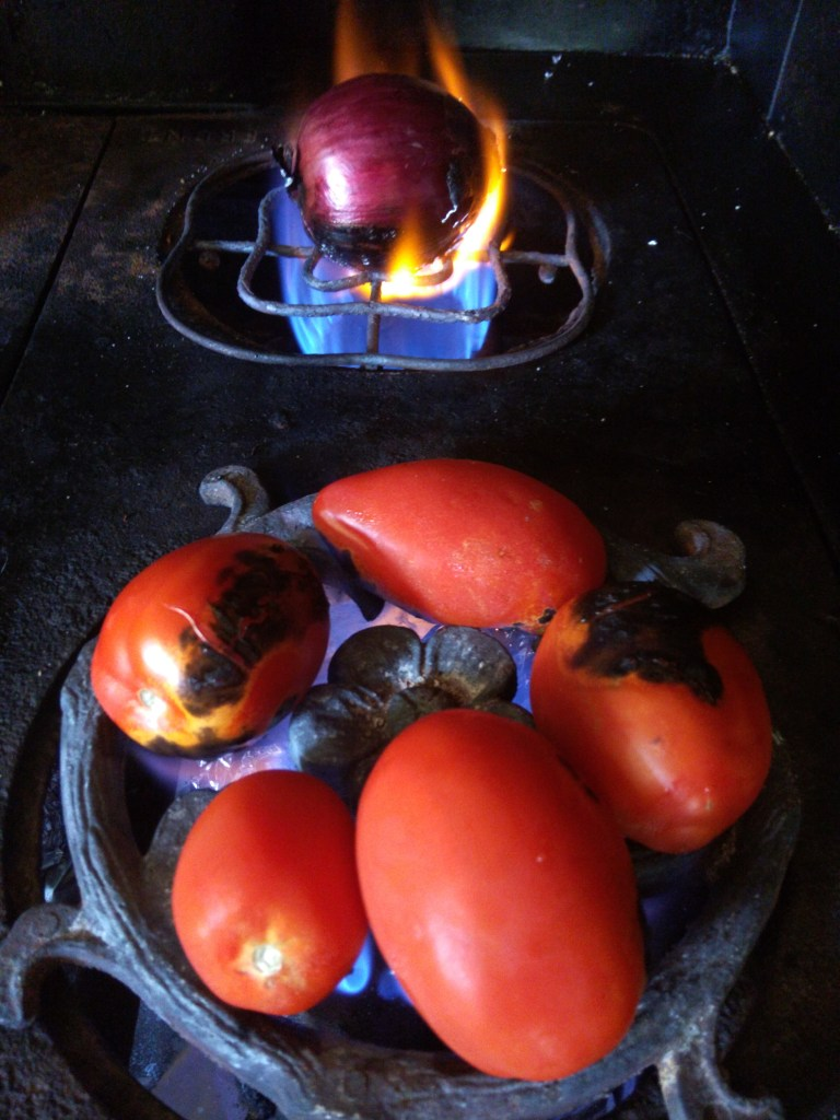 charring veggies