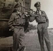 Air gunners F/O Johnny Freemantle and F/O Taffy Evans, 1945
