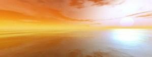 Peaceful sunset scene