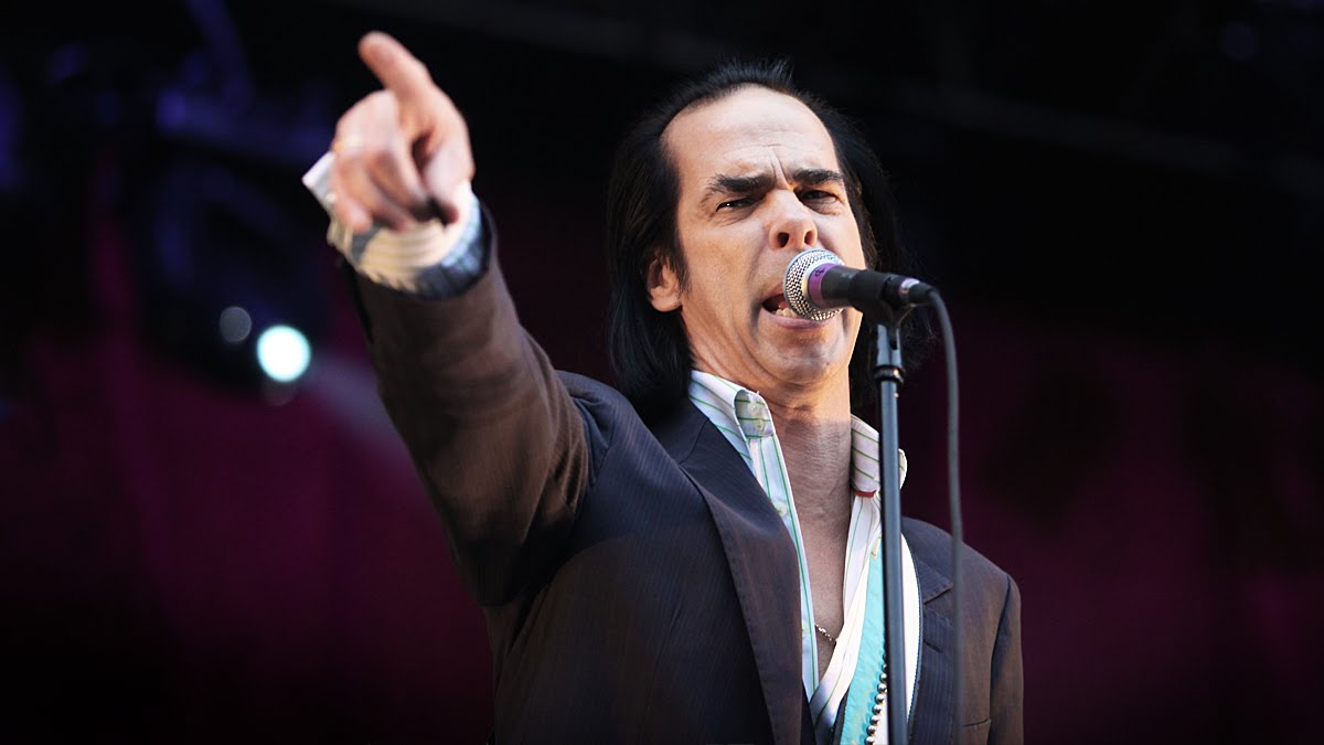 Nick Cave on stage