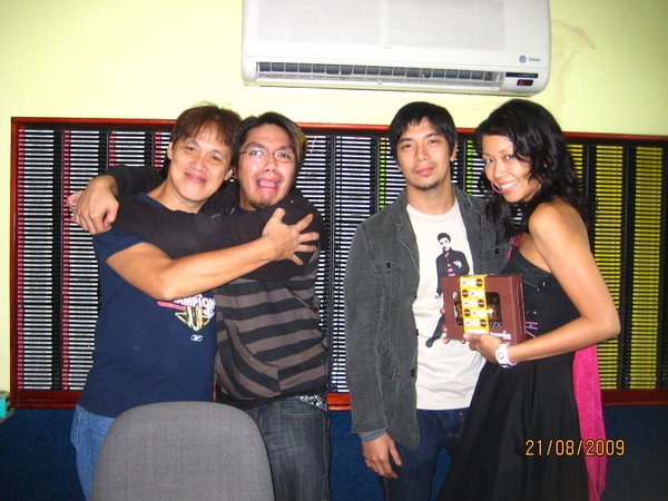The team behind Mellow 94.7's Wake-Up Show: (L-R) Mr. Ching, DJ Jaypee, DJ Rayu and DJ Lily