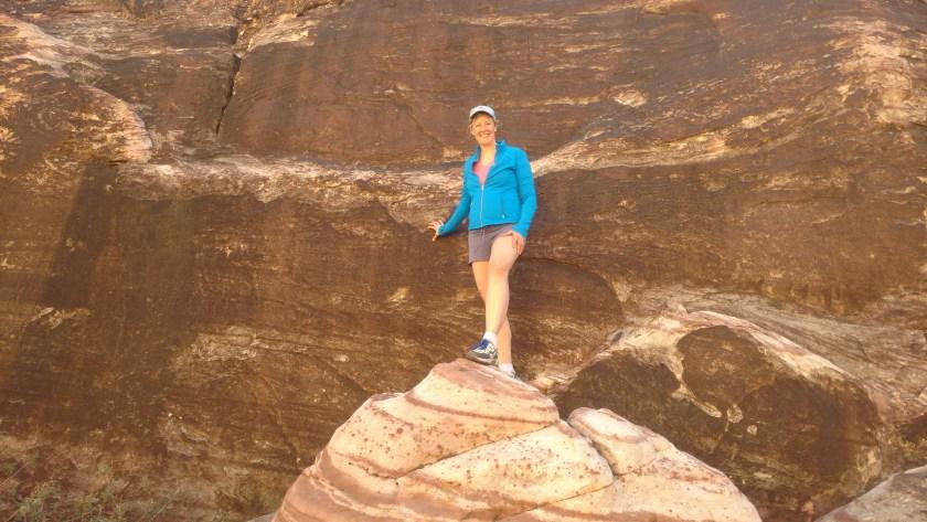 Norma Walton explores mountains in Nevada