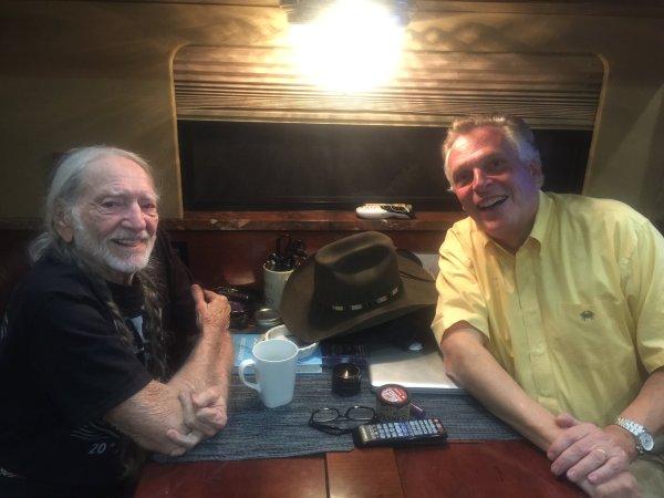 Willie Nelson and Gov McAuliffe