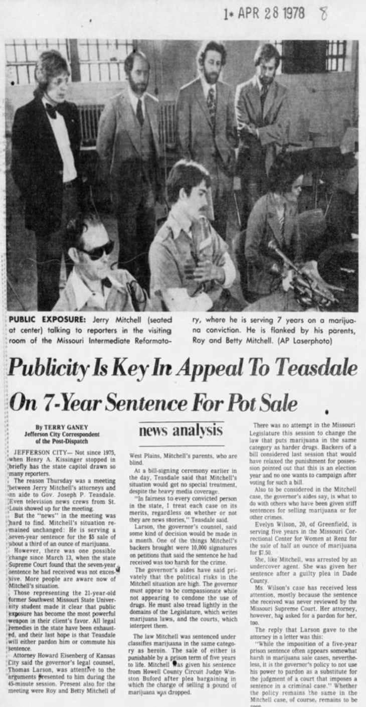 1978 St Louis Dispatch clipping of Jerry Mitchell trial