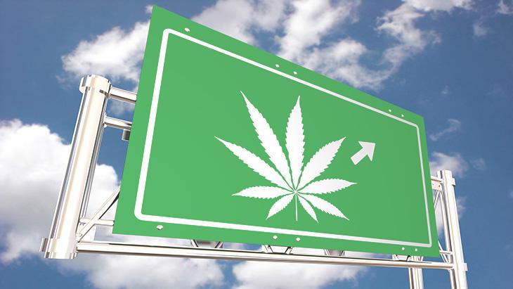 Marijuana Road Sign