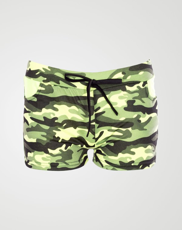 Image 1 of Girls Camo Print Hot Pants Shorts of color Mint from Noroze