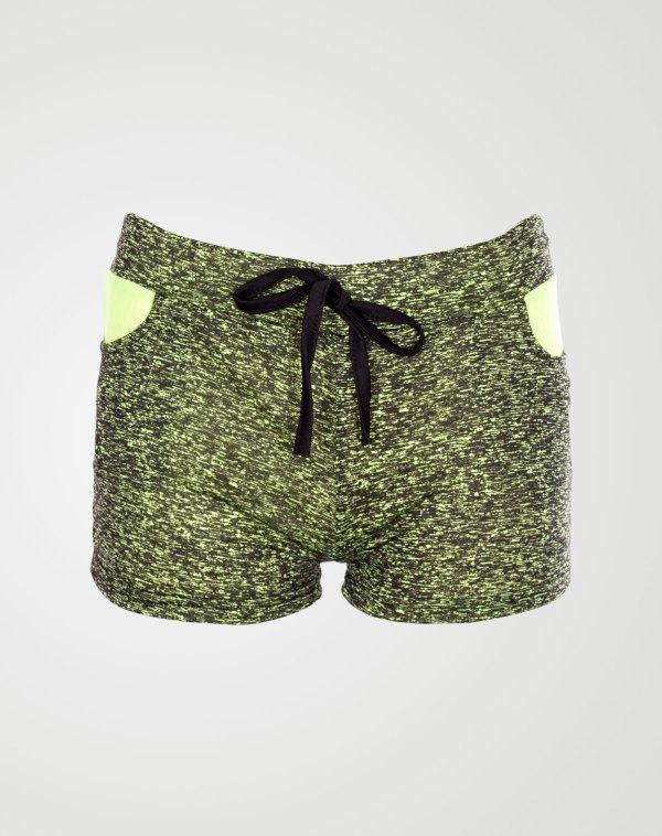 Image 1 of Girls Speck Print Hot Pants Shorts of color Mint from Noroze