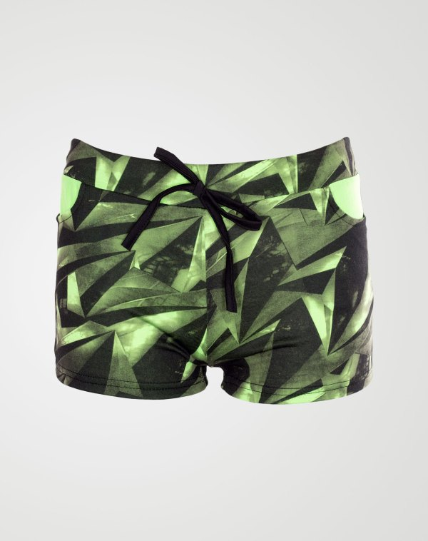 Image 1 of Girls Geo Print Hot Pants Shorts of color Mint from Noroze