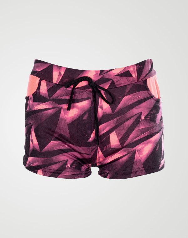 Image 1 of Girls Geo Print Hot Pants Shorts of color Pink from Noroze