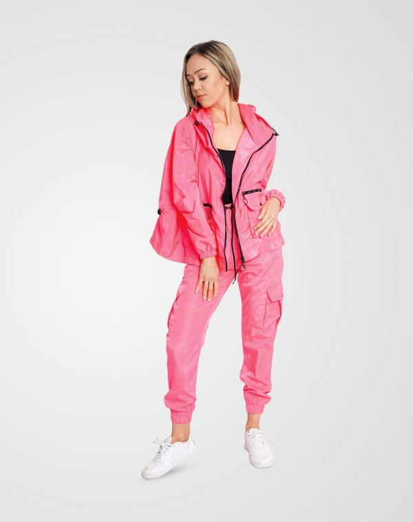 Image 1 of Womens Cargo Multi Pocket Trouser color Neon-Pink and sizes 8,10,12,14 from Noroze