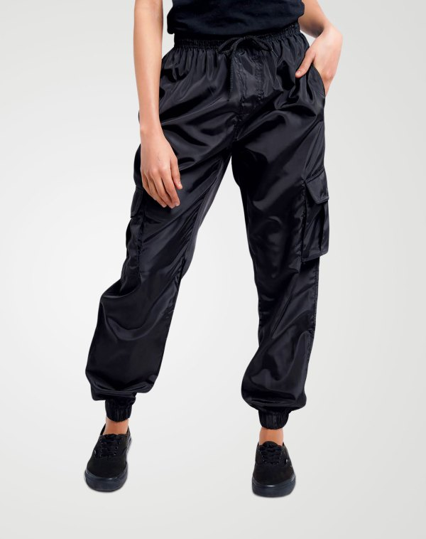 Image 1 of Womens Cargo Multi Pocket Trouser color Black and sizes 8,10,12,14 from Noroze