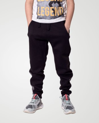 Image 1 of Boys Contrast Ankle Trouser color Black and sizes 7-8, 9-10, 11-12, 13 from Noroze