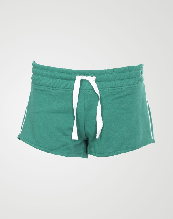 Image 1 of Womens Contrast Stripe Shorts Hot Pants color Green and sizes 8,10,12,14,16,18 from Noroze