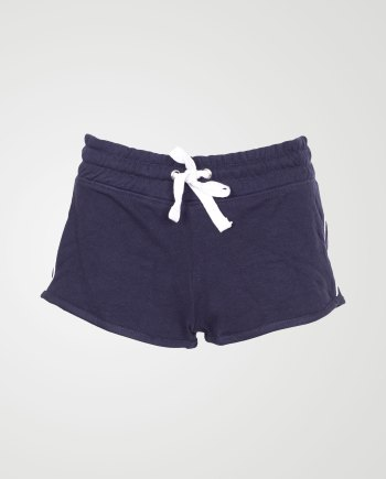 Image 1 of Womens Contrast Stripe Shorts Hot Pants color Navy and sizes 8,10,12,14,16,18 from Noroze