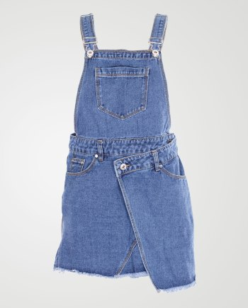 Image 1 of Girls Denim Pinafore Dress color Mid-Blue and sizes 7-8 yrs, 9-10 yrs, 11-12 yrs, 13 yrs from Noroze