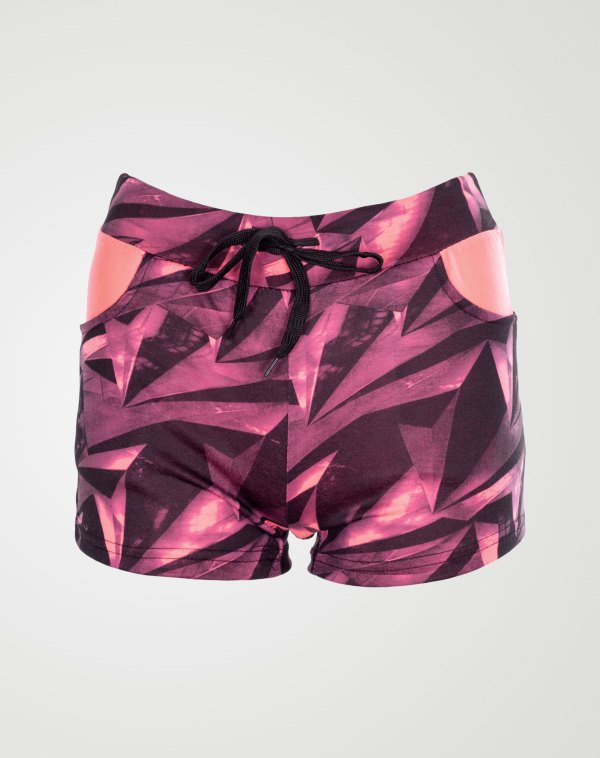Image 1 of Geo Pattern Hotpants Pink From Noroze