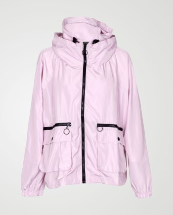 Image 1 of Womens Loose Light Waterproof Raincoat color Pink and sizes S/M, L/XL from Noroze