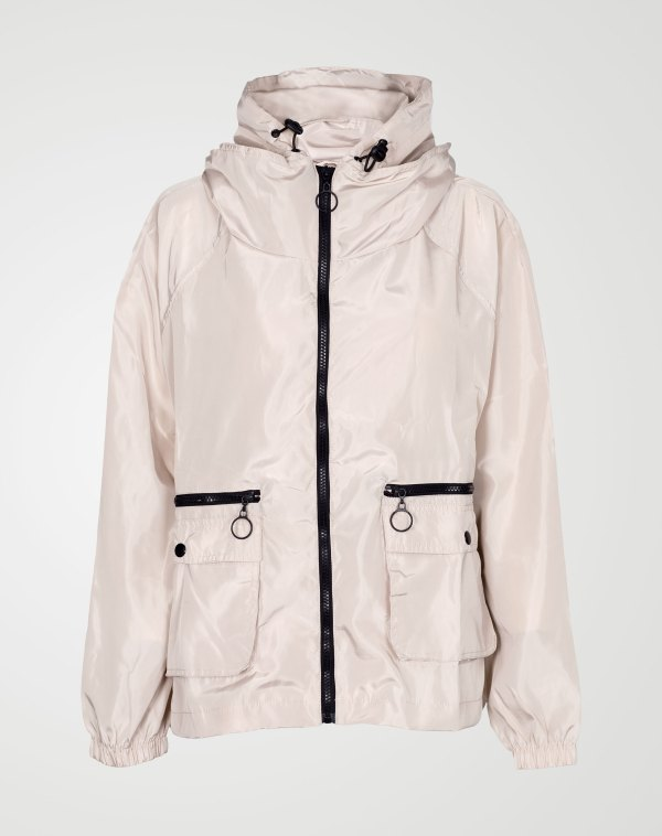 Image 1 of Womens Loose Light Waterproof Raincoat color Stone and sizes S/M, L/XL from Noroze