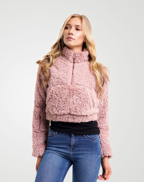 Image 1 of Womens Kangro Borg Crop Top color Light-Pink and sizes 8,10,12 from Noroze