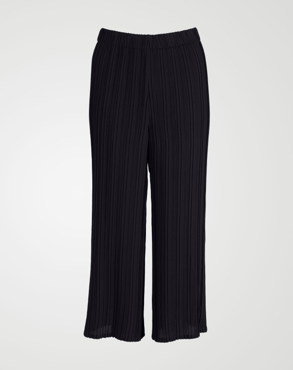 Image 1 of Womens Pleated Palazzo Trouser of color Black and sizes 8, 10, 12, 14 from Noroze