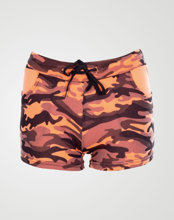 Image 1 of Camo Pattren Hotpants Coral from Noroze