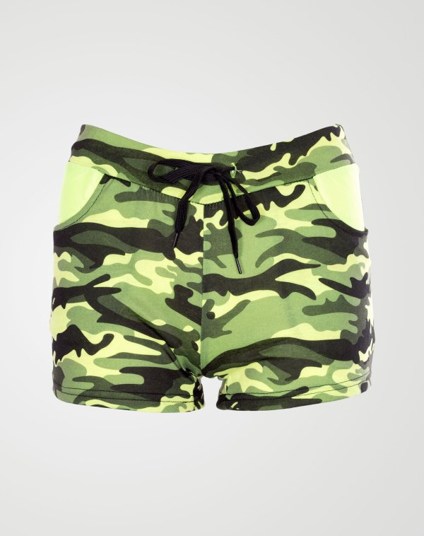 Image 1 of Camo Pattren Hotpants Mint from Noroze