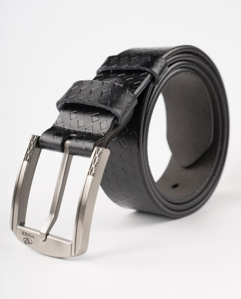 Image 1 of Mens Leather Belt with Squares of color Black from Noroze