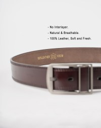 Image 5 of Mens Leather Belt of color Coffee from Noroze