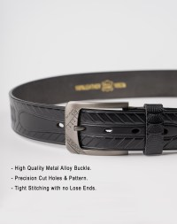 Image 5 of Mens Animal Patterned Leather Belt of color Black from Noroze Brand