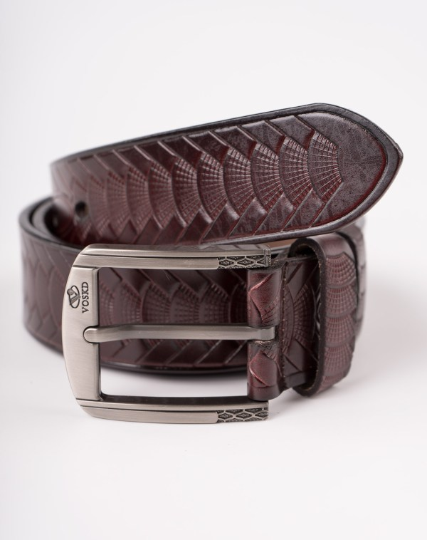 Image 2 of Mens Animal Patterned Leather Belt of color Coffee from Noroze