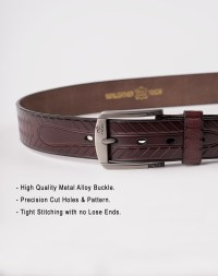 Image 5 of Mens Animal Patterned Leather Belt of color Coffee from Noroze