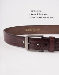 Image 6 of Mens Animal Patterned Leather Belt of color Coffee from Noroze