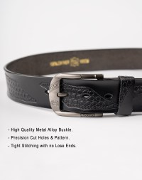 Image 4 of Mens Leather Belt of Black color from Noroze
