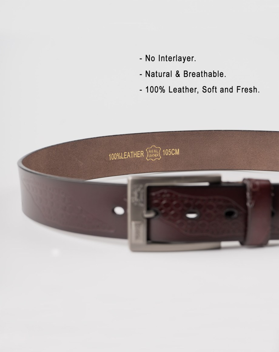 Image 6 of Mens Leather Belts of color Coffee from Noroze Brand