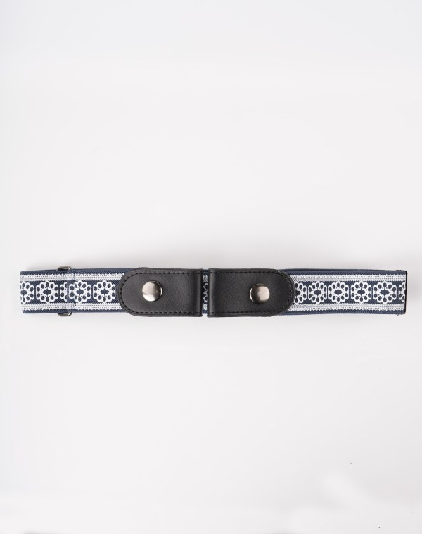 Image 1 of Womens No Buckle Lace Belt of color Navy from Noroze