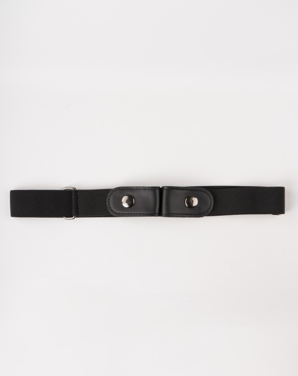 Image 1 of Womens No Buckle Belt of color Black from Noroze
