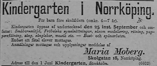 Norrköping - starten för Sveriges första kindergarten (5/6)