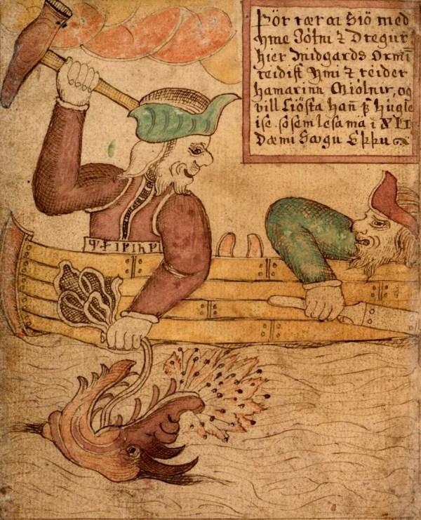 Thor Fishing for Jormungand Norse Mythology for Smart People